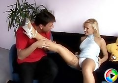Blonde seductress gets laid