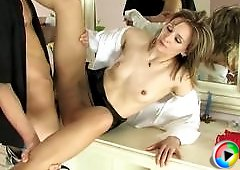 Isabella&Felix office pantyhose sex movie