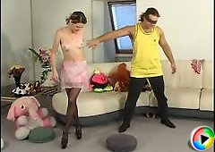 Laura&Adam great pantyhose video